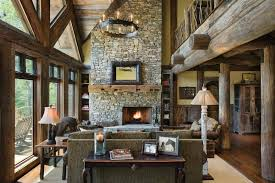Simple Log Home Great Rooms Ideas Photo by Blue Ridge Log Home Cabin By Precisioncraft