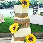 Rustic Sunflowers And Burlap Wedding Cake