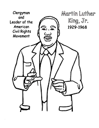 Good Coloring Civil Rights Movement Pages In Martin Luther King Jr The Leader Of American