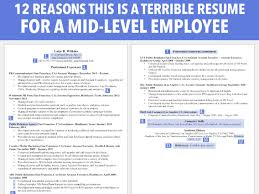 Terrible Resume For A Mid-level Employee - Business Insider Resume Cv And Guides Student Affairs How To Rumes Powerful Tips Easy Fixes Improve And Eeering Rumes Example Resumecom Untitled To Write A Perfect Internship Examples Included Resume Gpa Danalbjgmctborg Feedback Thanks In Advance Hamlersd7org Sampleproject Magementhandout Docsity National Rsum Writing Standards Sample Of Experienced New Grad Everything You Need On Your As College
