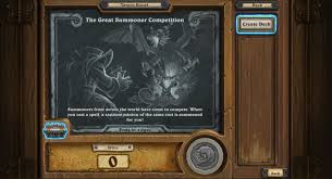 Mage Decks Hearthstone Basic by Tavern Brawl Week 4 The Great Summoner Competition