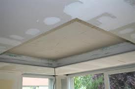 plafond a caisson suspendu plâtrerie de la mossig confection d un plafond décoratif en