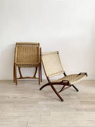 Mid Century Rope Folding Lounge Chair – Home Union NYC Vintage Mid Century Modern Folding Rope Chairs In The Style Of Hans Wegner 1960s Danish Bench Vonvintagenl Catalogus Roped Folding Chairs Yugoslavia Edition Chair Restoration And Wood Delano Natural Teak Outdoor Midcentury Pair Cord And Ebert Wels The Conran Shop