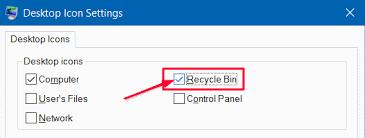 comment récupérer l icone de la corbeille sur windows 10