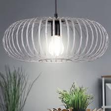 hänge leuchte pendel schlafzimmer le metall käfig grau decken strahler trio leuchten 306900161
