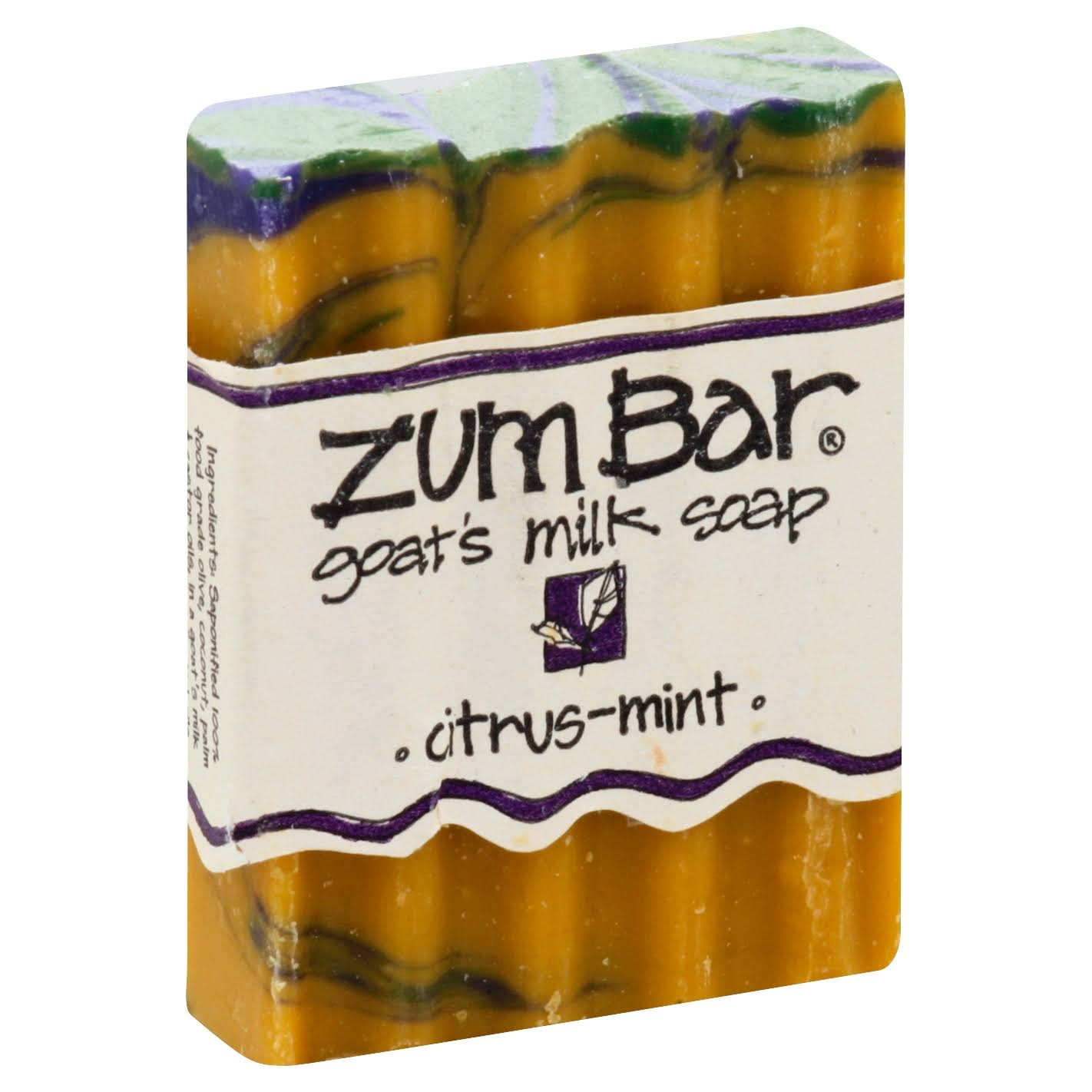 Zum Bar Goat's Milk Soap - Citrus & Mint, 3oz