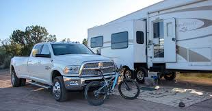 2016 Dodge Ram 3500 Dually 36 5th Wheel RV At Campsite