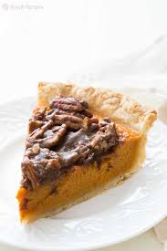 Pumpkin Pie With Pecan Praline Topping by Sweet Potato Pie With Pecan Topping Recipe Simplyrecipes Com