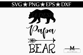 Papa Bear SVG By Mulia Designs