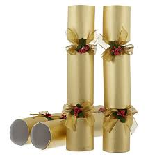 celebration crackers gold pin luxury christmas crackers 6 pack