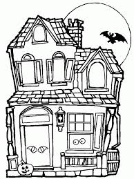Halloween Coloring Pages Free Printable Scary Haunted House Sheet Top 25