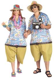 tropical tourist costume
