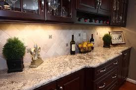 Kitchen Backsplash Ideas With Dark Wood Cabinets by Superb White Springs Granite Fashion Dc Metro Contemporary Kitchen