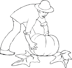 Harvesting Pumpkins Coloring Pages