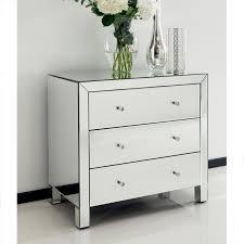 Hayworth Mirrored 3 Drawer Dresser by Attractive Mirrored 3 Drawer Dresser 267a68864764 Home Design