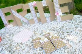 Vintage Lace Bridal Shower Wedding Party Ideas