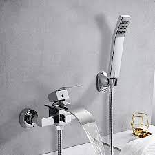 badewannenarmatur wasserfall mit brause woohse