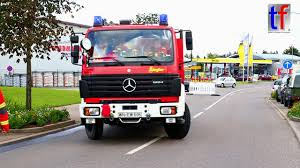 German Volunteer Fire Trucks Responding / Feuerwehr Welzheim ...