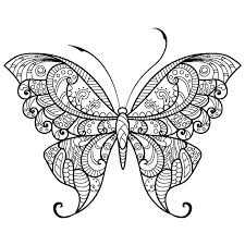 Coloring Pages Butterflies Cute Butterfly Page