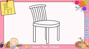 dessiner une chaise comment dessiner une chaise facilement etape par etape pour enfants