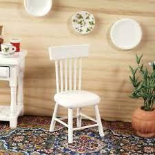 details zu 1 12 diy puppenhaus miniatur esszimmermöbel holz weiß dekor stuhl p7w8 k5c8