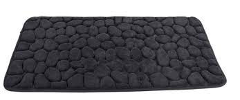 pebble tapis de bain gris foncé produits feelgood pour la maison