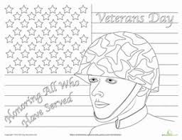 First Grade Holidays Seasons Worksheets Veterans Day Coloring Page