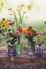 Mason Jar And Wildflowers Wedding Ideas For Boho