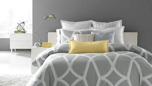 Gray Yellow And White Bathroom Accessories by Bedding Set Imposing Yellow Grey And White Bedding Sets