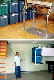 Racor Ceiling Storage Lift Canada by Best 25 Attic Lift Ideas On Pinterest Attic Storage Attic