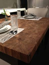 Information About A Zebrawood Butcher Block Dining Table With Food Safe Green Oil Finish Designed For Client In Chicago Illinois Includes Photograph