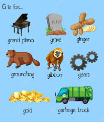 Many Words For Alphabet G — Stock Vector © Blueringmedia #107558912 Dump Truck Alphabet Abc Kids With Trucks Youtube Letters Titu Preschool Learning Alphabet Abcs For Kids With Truck Jj Richards Garbage Passes Song Fire Songs For Nursery Rhymes Garbage Trash Truck Hard At Work For Kids Mrbigtrucks101 Video Vz4kids First Words And Things That Go Learn The Print Transportation Poster Fun Friends At Storytime Dont Throw Your Trash In My Backyard Shapes Super Teaching Colors Basic