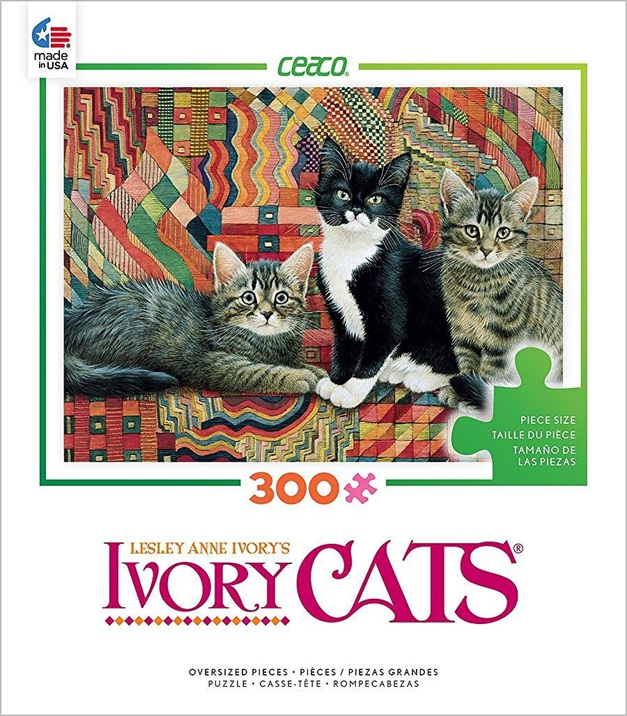 Ceaco Ivory Cats Jigsaw Puzzles Set - 300 Piece