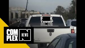 Woman With 'F*ck Trump' Truck Sticker Has Been Arrested - YouTube Lift It Fat Chicks Cant Jump Decal Lifted Truck Sticker Pick Your Bear Trucks Skull Logo Sticker Skater Hq Truck Design For Miracle Movers Maker Appealing Bumpsticker Prting Batman Pickup Bed Bands Decal Vinyl Gmc Sierra Food Wrapping Lorry Klang Selangor American Simulator Sheet Scs Software Ipdent Co 3 Blackred Free Shipping Diesel Stickers Ebay Entry 9 By Kenerojeda Flowers Design Freelancer