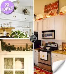 des id馥s pour la cuisine décorer le dessus des meubles de cuisine voici 20 idées inspirantes