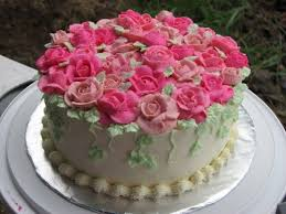 happy birthday cakes with roses poster