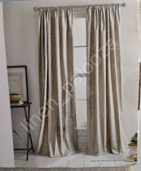 Dkny Modern Velvet Curtain Panels by Dkny Mineral Taupe Silver Rod Pocket Curtains 100 Cotton 50 By 84