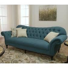 Home Decorators Collection Gordon Tufted Sofa by Home Decorators Collection Arden Peacock Polyester Sofa 1599000280