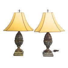 Square Crystal Lamp Finials by Vintage U0026 Used San Diego Lighting Chairish