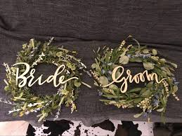 Wooden Letter Wood Groom And Bride Chair Signs For Vintage Rustic Wedding Decoration Photo