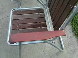 3 Vintage Aluminum Folding Lawn Chair Outdoor Patio Beach Wood ... Vintage Alinum Folding Redwood Wood Slat Lawn Chair Patio Deck Webbed Lawnpatio Beach Yellowwhite Table Tables Stainless Steel Ding Garden 2 Vintage Matching Alinum Webbed Sunbeam Lawn Arm Beach Chair Pair All Folding Mod Orange Patio Pair Of Chairs By Telescope Fniture Company For Sale At 1stdibs Retro Alinum Patio Fniture Ujecdentcom And Mid Century Vtg Blue Canvas Director How To Tell If Metal Decor Is Worth Refishing Diy 3 Outdoor Macrame A Howtos