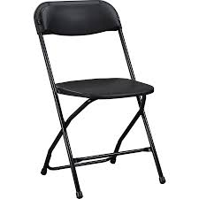 Lorell Plastic Folding Chair - X-Style Base - Black - Plastic - 17.8