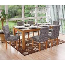 6x esszimmerstuhl stuhl küchenstuhl littau textil mit schriftzug grau helle beine