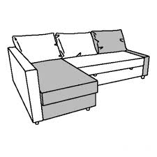Friheten Corner Sofa Bed Cover by Friheten Chaise Longue For Corner Sofa Bed Dark Brown