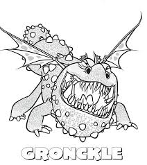 Gronckle Sharp Teeth From How To Train Your Dragon Coloring Pages