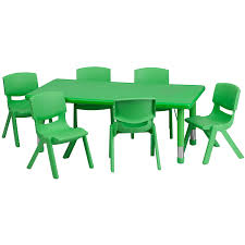 Sams Club Folding Table And Chairs by Amazon Com Flash Furniture 24 U0027 U0027w X 48 U0027 U0027l Rectangular Green