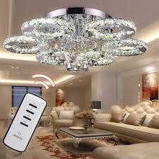 kristall deckenlen 88w modern design luxus esszimmer led