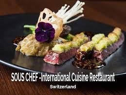 chef de partie en cuisine sous chef international cuisine restaurant