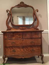 antique tiger oak dresser and mirror ebay quartersawn oak