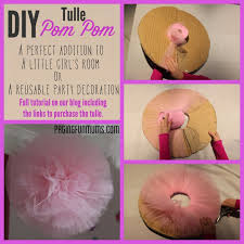 Tulle Pom Pom Decorations by Diy Tulle Pompom Perfect Party Or Kids Room Decoration Disney